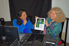 Lucia & Carolyn finished aura chakra image